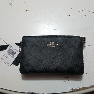 Coach Double Zip Wristlet NEW with tags